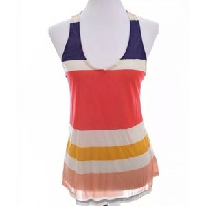 Splendid Anthropologie Color Block Tank Top  Sz L